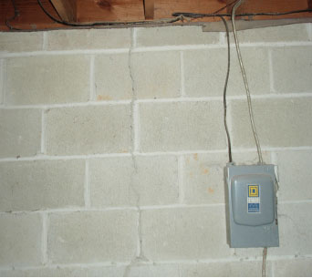 Vertical Crack In Brick Veneer Wall